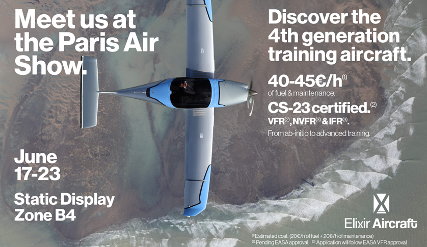 Meet the Elixir Aircraft team at Paris Air Show and discover the 4th generation training aircraft.