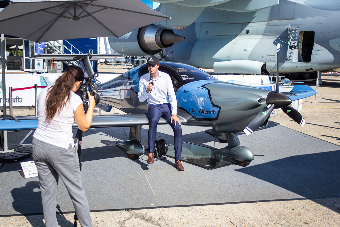 Cyril Chapenois, COO and co-founder of Elixir Aircraft during an interview