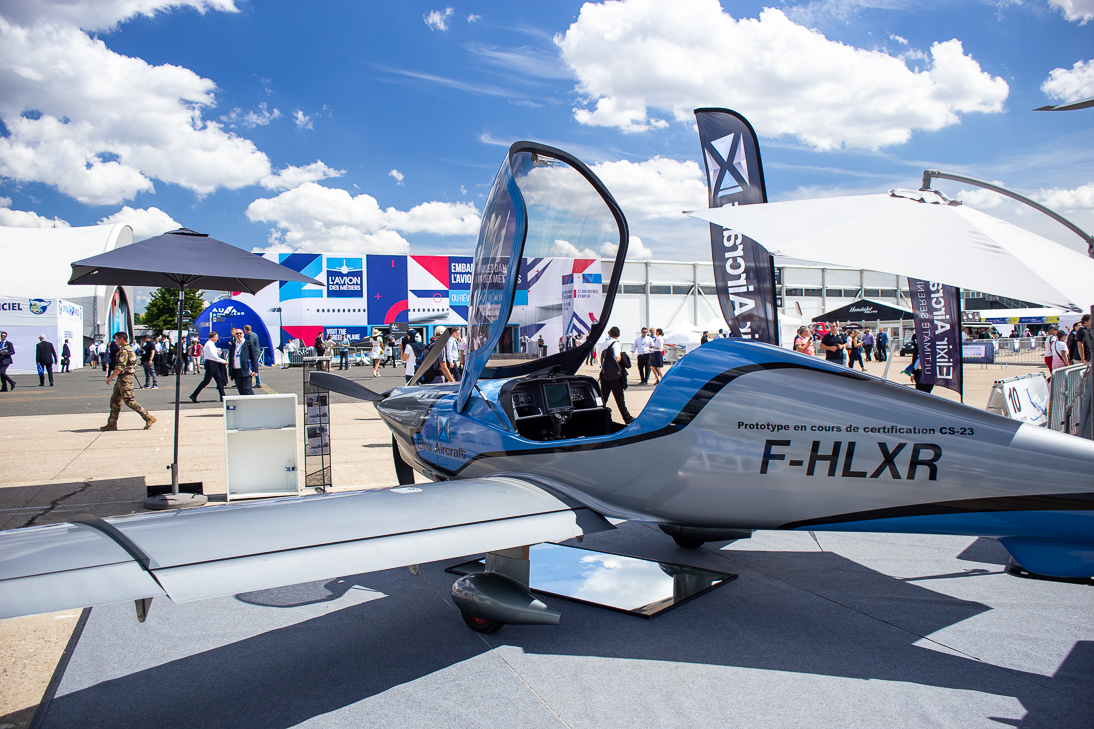 The Elixir on the static display at the Paris Air Show